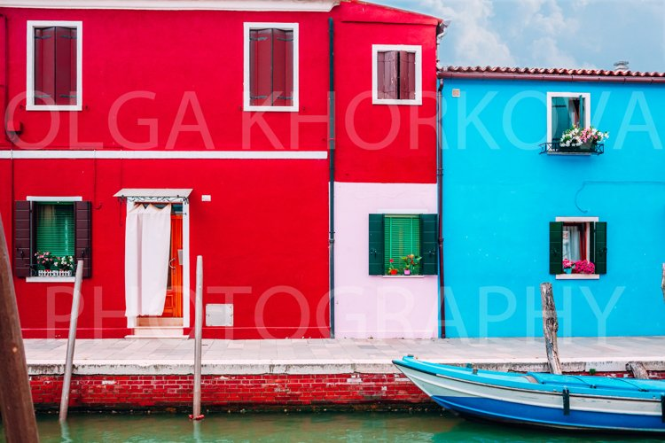 Colorful houses of Burano, Venice example image 1