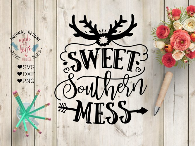 Sweet Southern Mess - Southern Cut File and Sublimation File example image 1