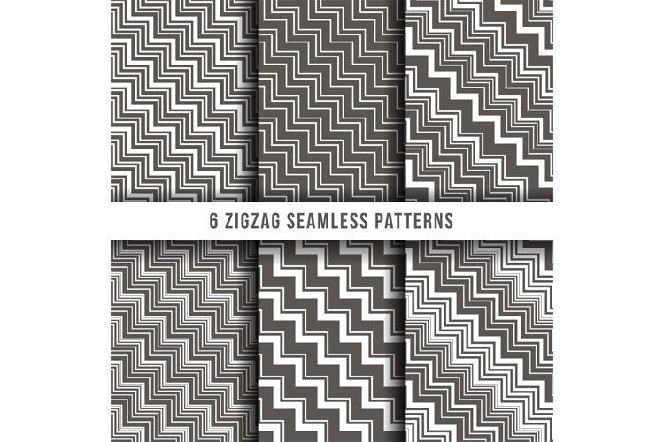 Diagonal zigzag line seamless pinstripe vector backgrounds example image 1