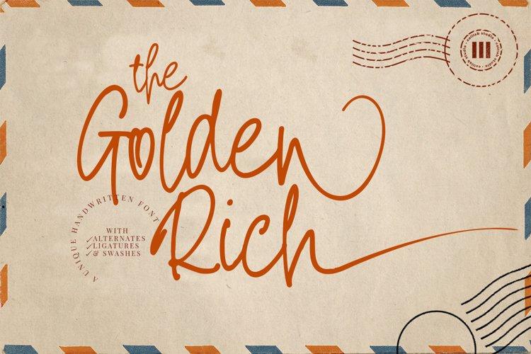 The Golden Rich- An Unique Handwritten Font