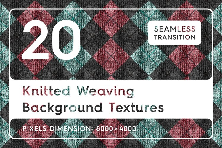 20 Knitted Weaving Background Textures example image 1
