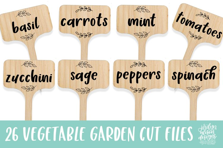 26 Vegetable Garden Labels/Flags, SVG Cut File Bundle