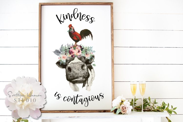 KINDNESS IS CONTAGIOUS - PNG example image 1