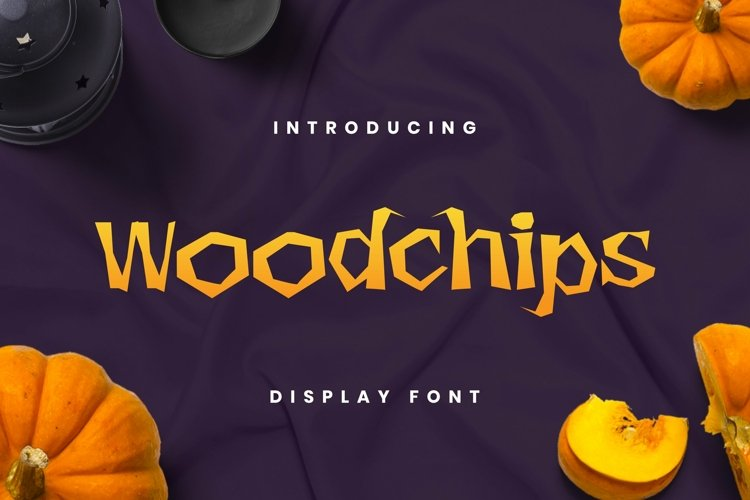 Web Font Wood Chips Font example image 1