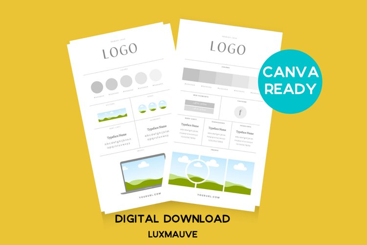 Brand Board Canva Template example image 1
