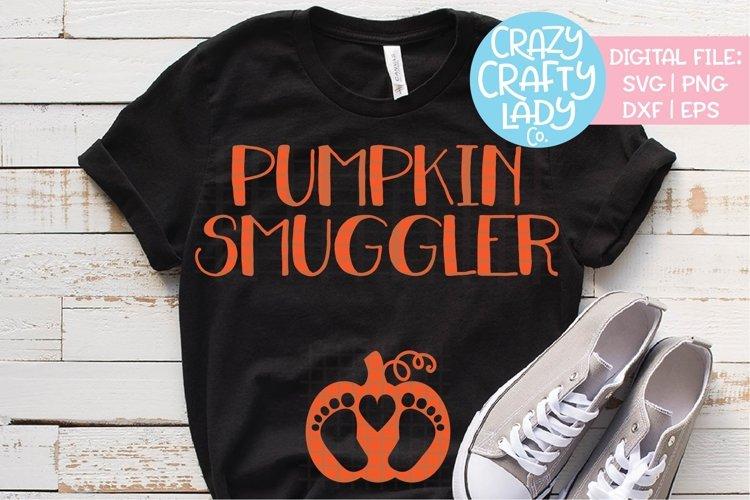 Pumpkin Smuggler SVG DXF EPS PNG Cut File example image 1