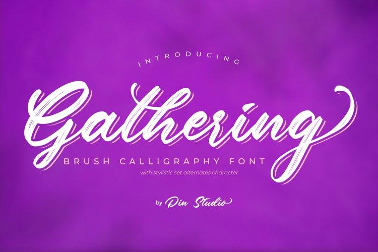 Gathering-Brush Font example image 1