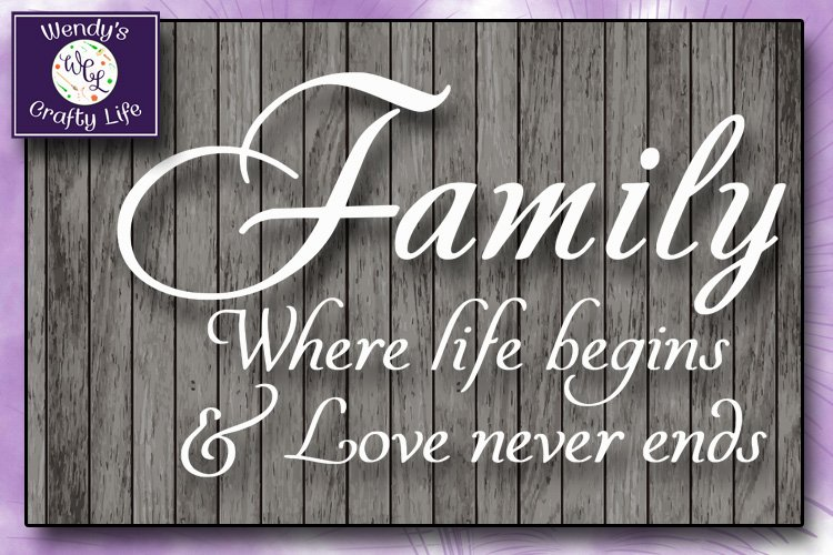 Family svg - Family wall quote or sign - SVG - PNG - PDF example image 1