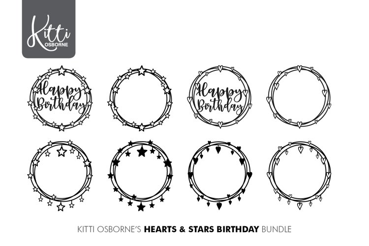Hearts & Stars SVG example image 1