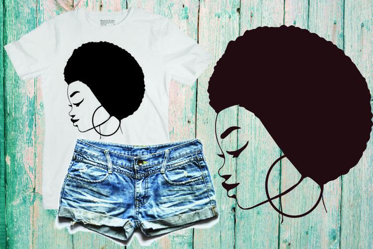 Black woman svg Natural Hair Svg Afro svg,black woman 315SV example image 1