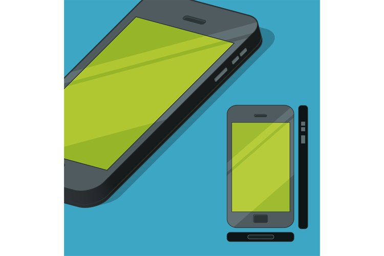Flat style mobile phone concept illustration example image 1