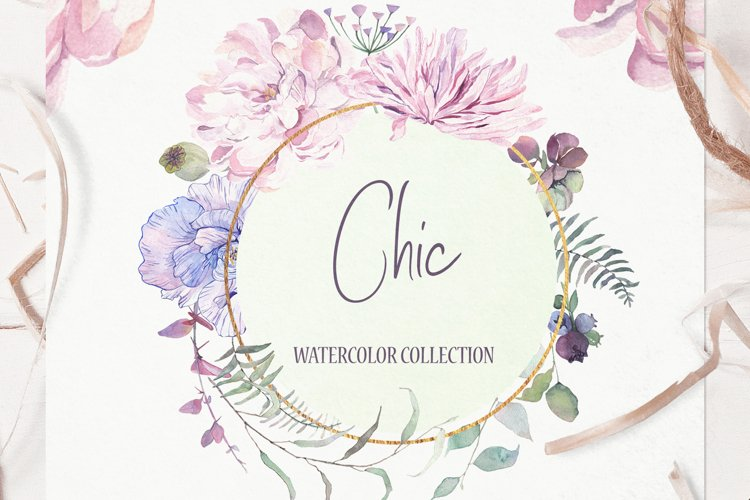 Chic Watercolor Floral Collection example image 1