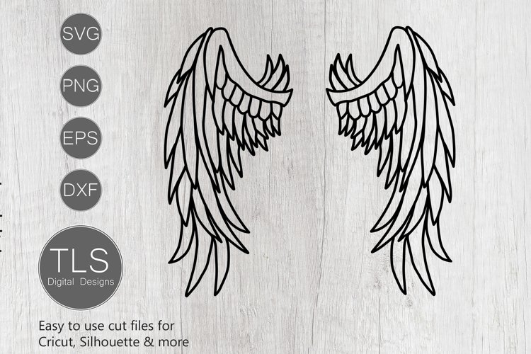 Angel Wings SVG, Angel Wings cricut file, silhouette file