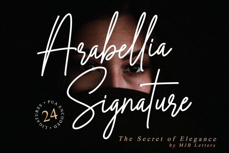Arabellia Signature | Casual Handwritten Font example image 1