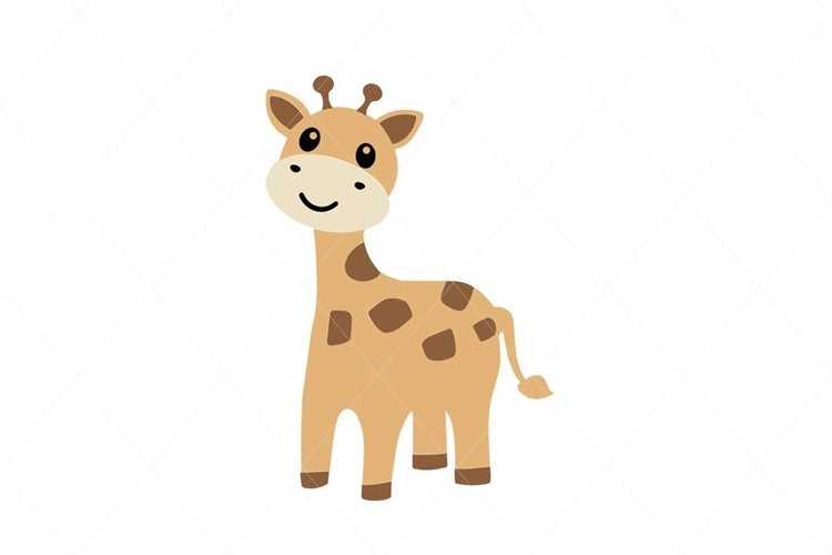 Baby Giraffe EPS PNG SVG Digital File Clipart Traceable example image 1