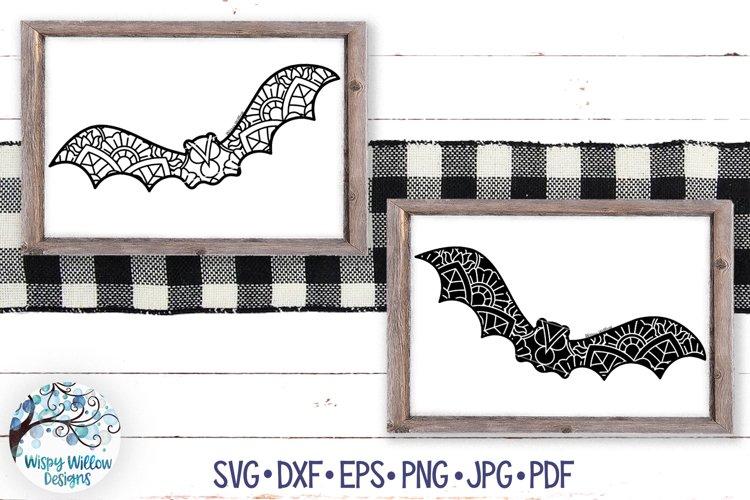 Bat Mandala SVGs   Halloween Mandala SVG Cut Files example image 1