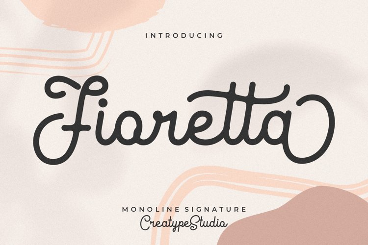 Fioretta Monoline Signature example image 1