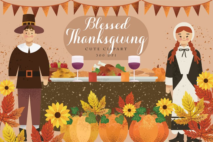 Blessed Thanksgiving Cute Clipart