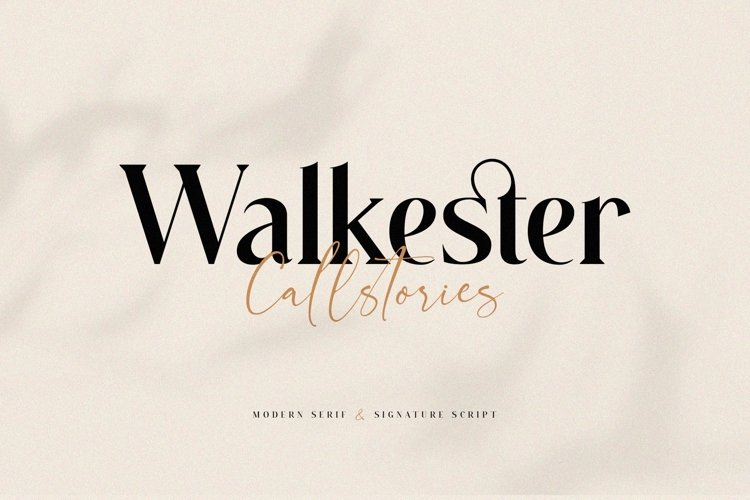 Walkester Font Duo example image 1