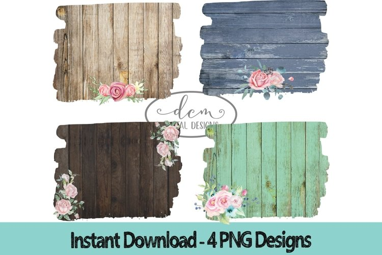 Rustic Wood Backgrounds PNG sublimation designs example image 1