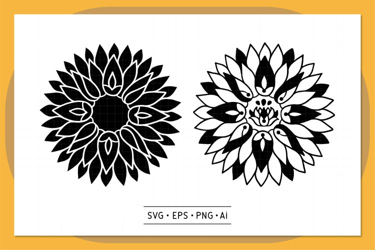Sunflower Mandala SVG - V1 example image 1