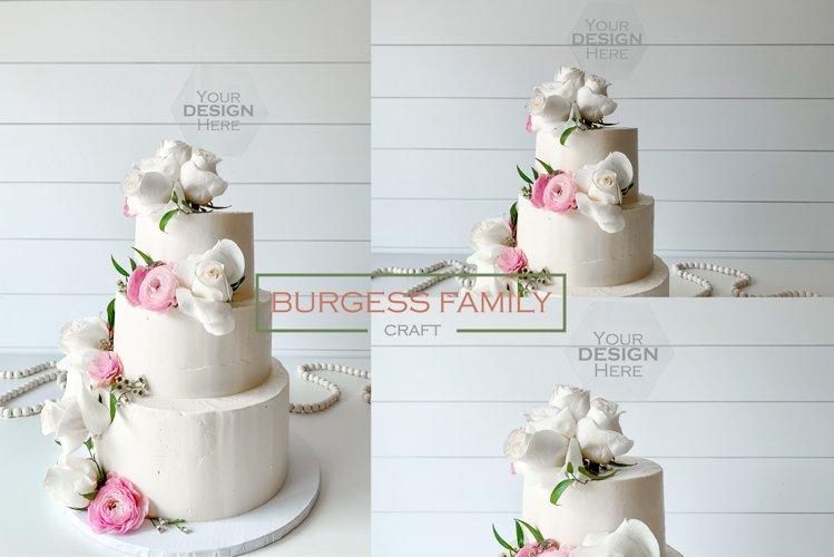 Mockup Cake Toppers Hexagon acrylic topper   JPEG example image 1