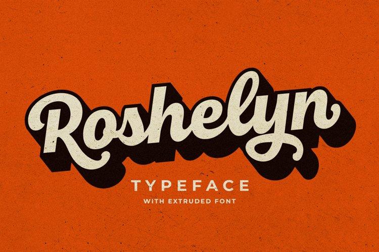 Roshelyn Typeface example image 1