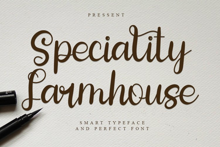Speciality Farmhouse - Smart Script Font example image 1