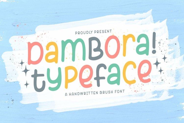 Web Font Dambora example image 1