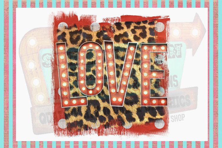 Funky Love Sublimation Digital Download example image 1