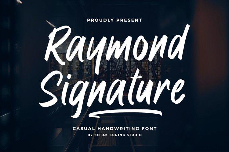 Raymond Signature Font example image 1