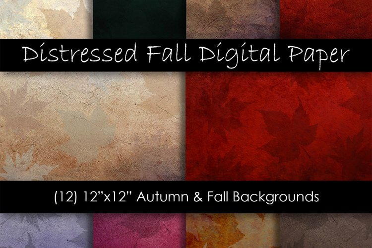 Distressed Fall Textures - Fall and Autumn Backgrounds example image 1
