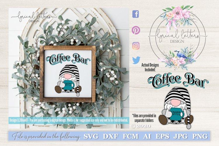 Coffee Gnome and Coffee Bar SVG Cut File LL20Jan07