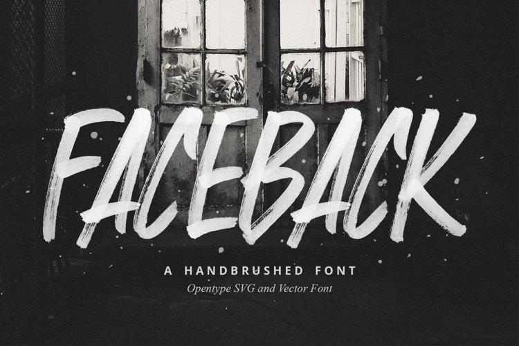 Faceback - SVG Brush Font example image 1