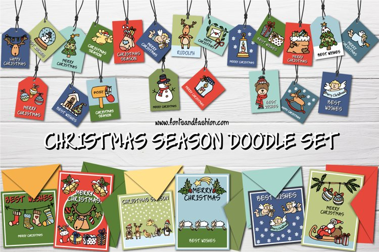 Christmas Season Doodle Set example image 1