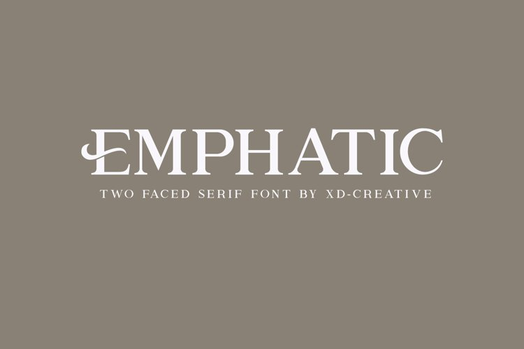 Emphatic - Serif Font example image 1