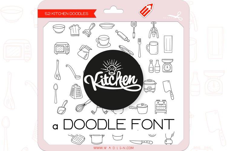 Kitchen Doodles - Dingbats Font example image 1