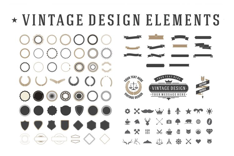 Vintage Design Elements Set example image 1