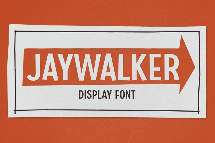 Jaywalker - Display Font example image 1