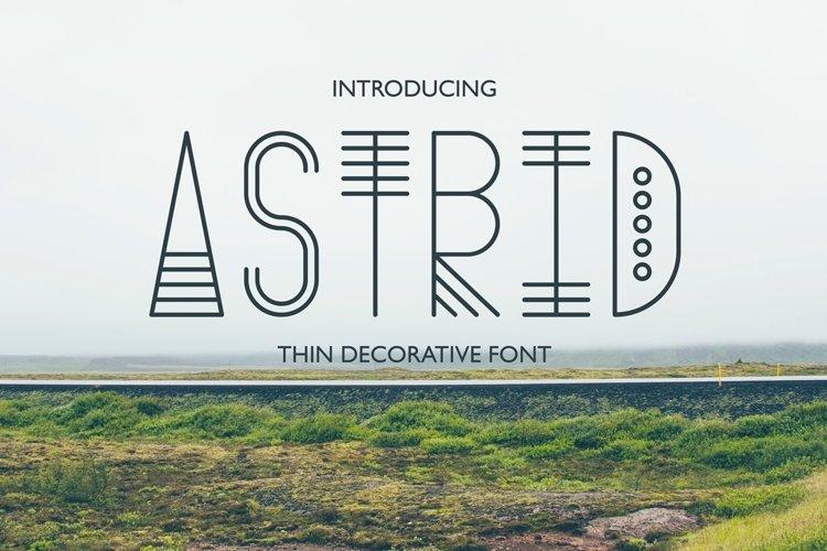 Astrid - Thin Decorative Font