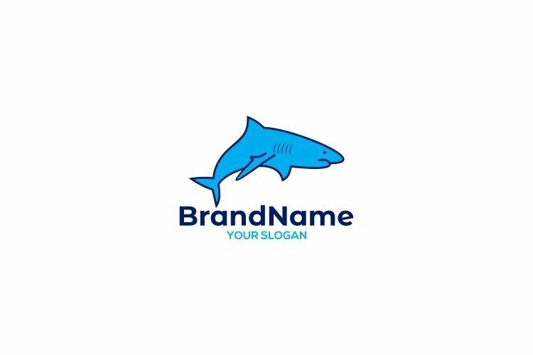 Blue Shark Logo Design Vector example image 1