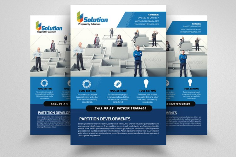 Business Problem Solution Flyers example image 1