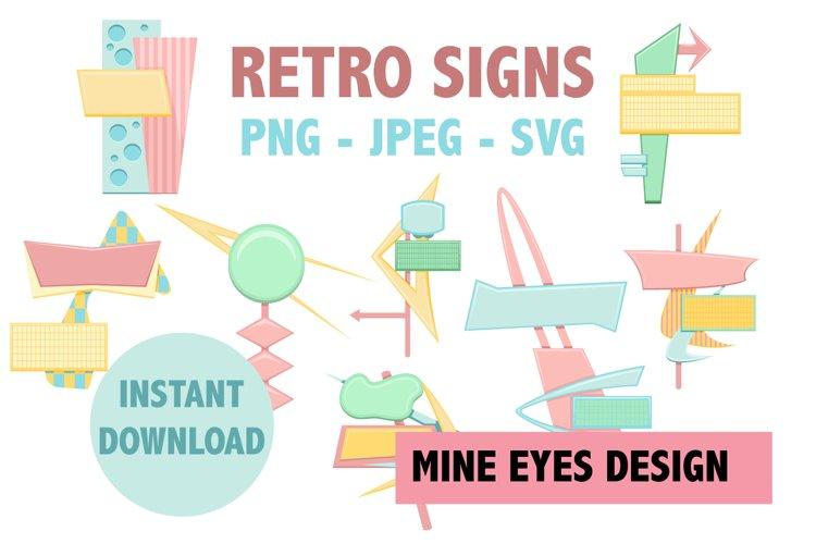 RETRO SIGNS - Mid Century Modern design illustrations