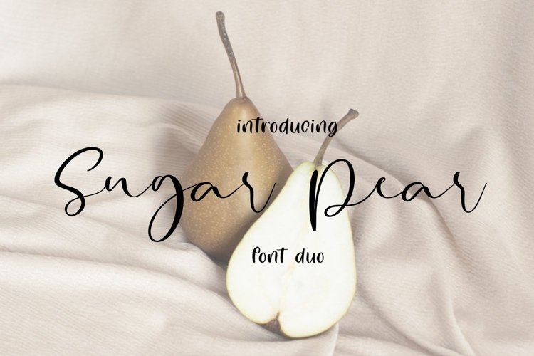 Web Font Sugar Pear Font Duo