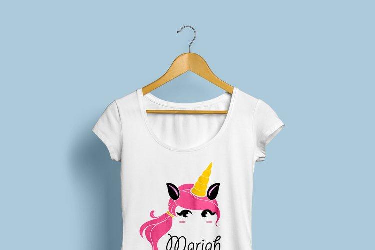 Unicorn svg, unicorn face svg, licorne, unicorn face clipart - Free Design of The Week Design0