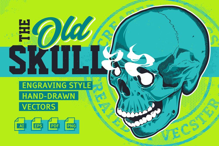 OLD SKULL - Engraving Style Vectors
