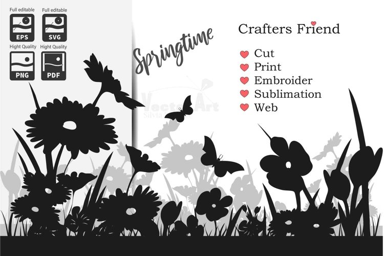 Spring Flowers - Cut File for Crafter
