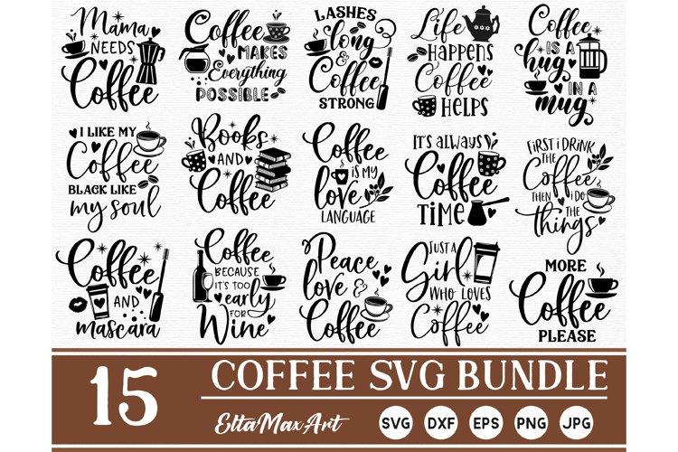 Coffee SVG Bundle, Coffee Svg, Coffee Cut Files, Coffee SVG example image 1