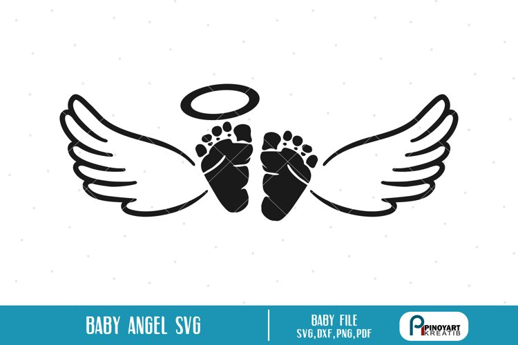 baby angel svg a baby feet with wings vector file 190481 cut files design bundles baby angel svg a baby feet with wings vector file