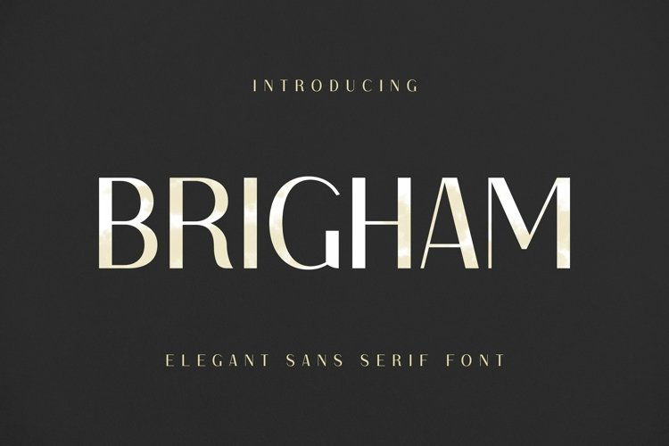 Web Font Brigham Font example image 1